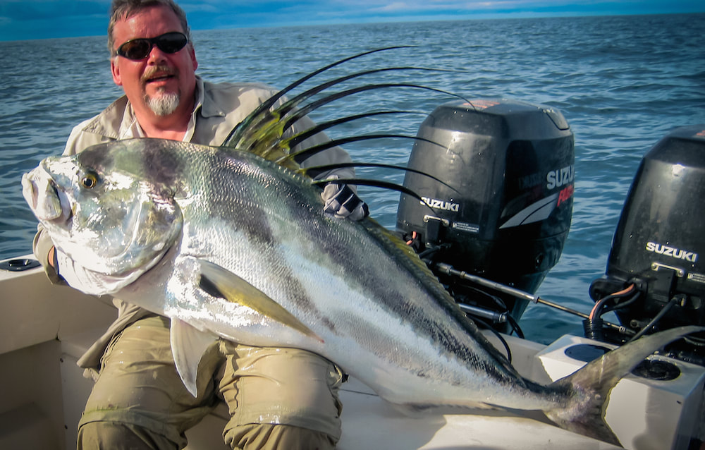 huge roosterfish world record